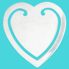 Tiffany Heart Form Bookmark Sterling Silver