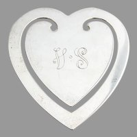 Tiffany Heart Form Bookmark Sterling Silver Mono VS