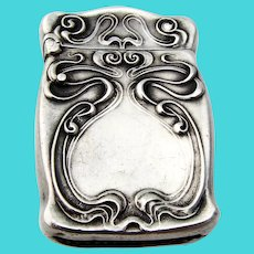 Unger Brothers Alexander Match Safe Sterling Silver 1904