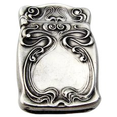 Unger Brothers Alexander Match Safe Sterling Silver 1904