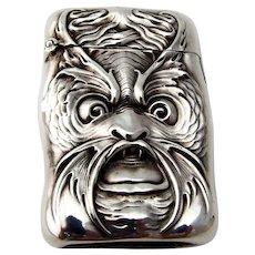 Art Nouveau Sea Creature Match Safe Sterling Silver 1900