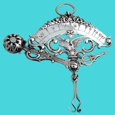 Gorham Ornate Hanging Letter Scale Sterling Silver 1892 Date Mark