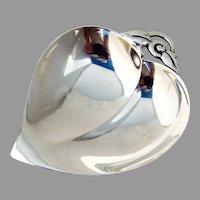 Tiffany Figural Leaf Dish Sterling Silver 1943