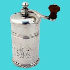 Gorham Pepper Mill Grinder Gadroon Rim Silverplate 1903 Mono LBR