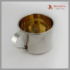 Plain Design Baby Childs Cup Gilt Interior Sterling Silver