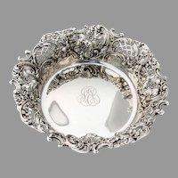 Baroque Openwork Wine Coaster Redlich Sterling Silver 1900s Mono SEB