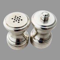 Individual Salt Shaker Pepper Grinder Set Baldwin Miller Sterling Silver