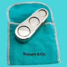 Tiffany Triple Coin Holder Box Sterling Silver