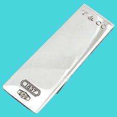 Tiffany Money Clip Sterling Silver No Mono
