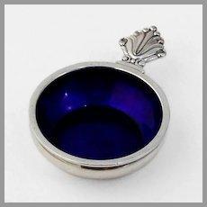 Acanthus Open Salt Blue Enamel Georg Jensen Sterling Silver 1917