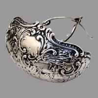 Hanau Repousse Tea Strainer Basket Storck Sinsheimer 800 Silver 1890