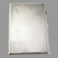 WWII English Cigarette Case Joseph Gloster Sterling Silver 1942 Mono WRC