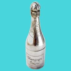 Champagne Bottle Form Pepper Grinder Vogel Silverplate 1900 London