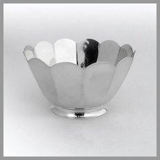 Tiffany Modernist Panelled Bowl Sterling Silver