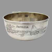Gorham Engraved Dutch Children Porringer Bowl Sterling Silver 1926 Patricia