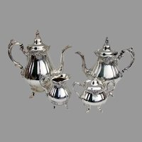 Wallace Baroque 4 Piece Tea Coffee Set Silverplate