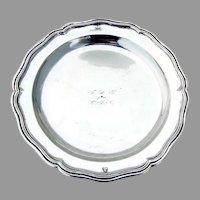 Spanish Silver Scalloped Border Plate 17th Century Caceres Mono