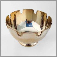 Tiffany Monteith Bowl Applied Rim Gilt Sterling Silver 1960