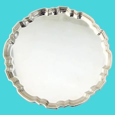 Tiffany Chippendale Dresser Tray Round Form Sterling Silver