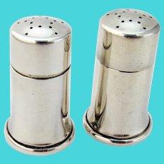 Tiffany Modernist Salt Pepper Shakers Set Cylinder Form Sterling Silver