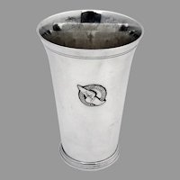 Tiffany Beaker NY Athletic Club Logo Sterling Silver Mono High Scratch