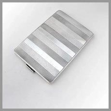 Art Deco Cigarette Case Gilt Interior Robert Craft 835 Silver 1930 Germany