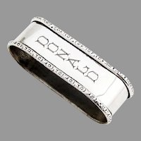 Webster Narrow Oval Napkin Ring Floral Rims Sterling Silver Donald