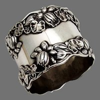 Gorham Pond Lily Napkin Ring Sterling Silver No Mono