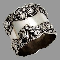 Gorham Pond Lily Napkin Ring Sterling Silver No Mono