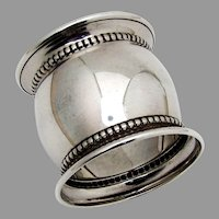 Gorham Beaded Napkin Ring Convex Form Sterling Silver No Mono