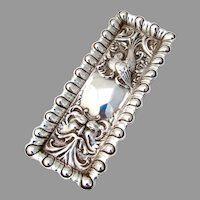 Repousse Northwind Bird Dresser Tray Long Rectangle Form Sterling Silver