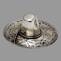 Mexican Sombrero Hat Form Dish Figurine Maciel Sterling Silver 1940