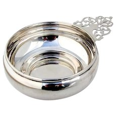 Porringer Baby Bowl Keyhole Handle Preisner Sterling Silver 1950