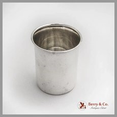 Lunt Plain Shot Cup Flared Edge Sterling Silver 1960 No Mono