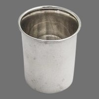 Shot Cup Flared Edge Sterling Silver Lunt 1960 No Mono