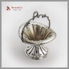 Basket Form Open Salt Cast Handle Continental European 800 Silver