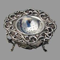 Dutch Tea Strainer Stand Set Verhoogt 833 Standard Silver 1903
