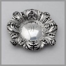 Acanthus Leaf Candy Bowl Shiebler Mauser Sterling Silver Mono W