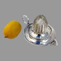 English Lemon Citrus Juicer Hukin Heath Silverplate 1906