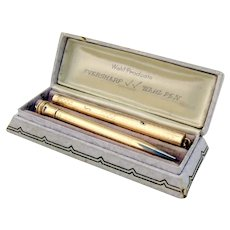 Wahl Gold Filled Fountain Pen Pencil Boxed Set 1930