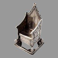 English Throne Figurine Charles Boyton Sterling Silver 1901
