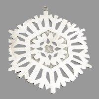 Snowflake Ornament Metropolitan Museum Of Art Sterling Silver 1972