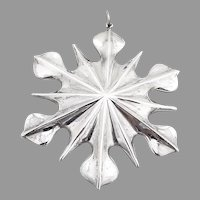 Snowflake Christmas Ornament New England Sterling Silver 1998