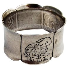 Engraved Baby Napkin Ring Sanborns Sterling Silver 1960 Mexico