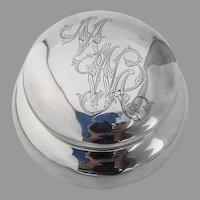 Shreve Dresser Jar Sterling Silver 1890 Mono MWA
