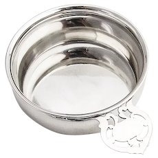 Wallace Porringer Baby Bowl Keyhole Handle Sterling Silver