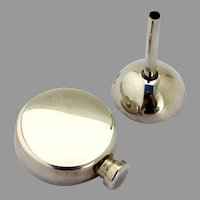 Tiffany Miniature Round Perfume Bottle Funnel Set Sterling Silver