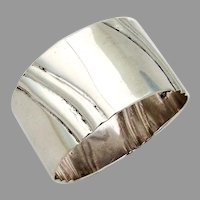 Fluted Napkin Ring Salvador De La Serna Sterling Silver Mexico