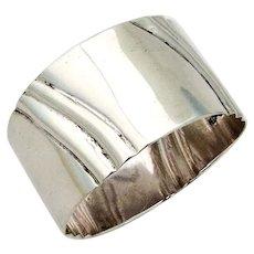 Fluted Napkin Ring Salvador De La Serna Sterling Silver Mexico