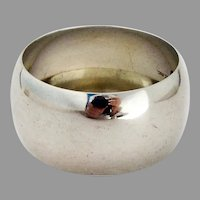 Plain Convex Form Napkin Ring Watrous Sterling Silver Mono G